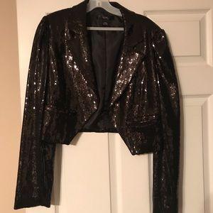 Jackets & Blazers - Black Sequin Blazer